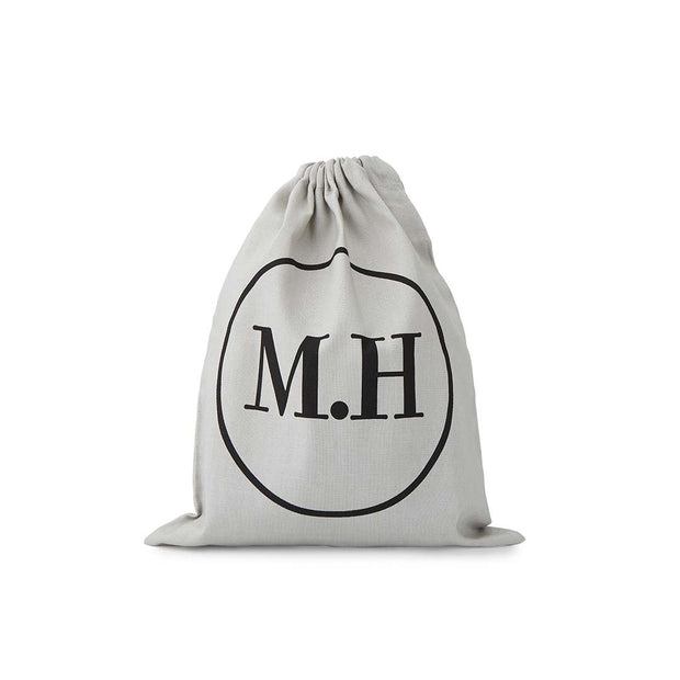 MH Grey Drawstring bag