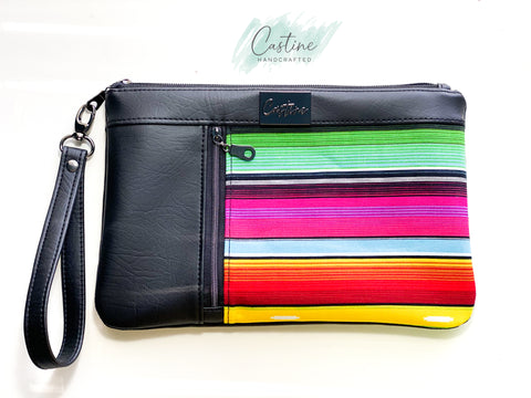Black Serape Clutch