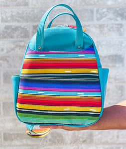 Teal Serape Backpack