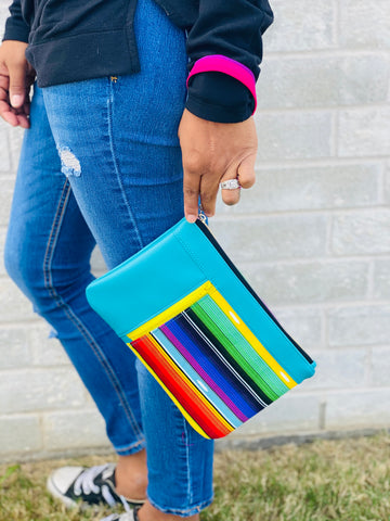 Serape Clutch Wallet