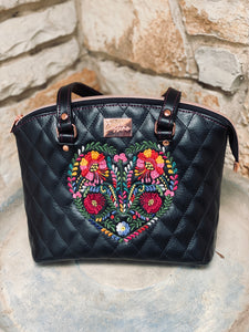 Quilted Heart Handbag