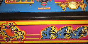 Ms. Pacman aracde game control panel