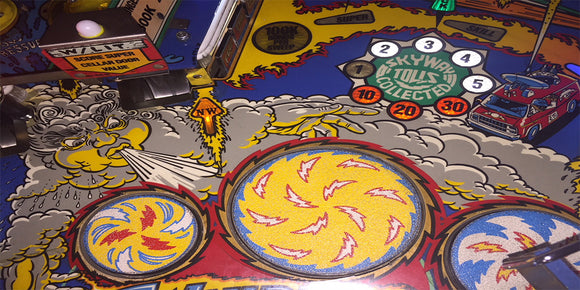 Whirlwind pinball playfield