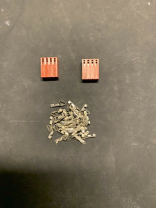 4 Pin Molex Connector Kit, 22-26 AWG .100 Pins Arcade Pinball