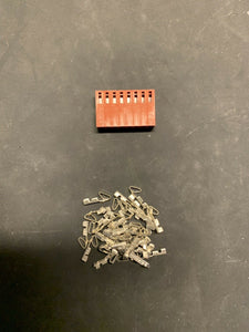 8 Pin Molex Connector Kit, 22-26 AWG .100 Pins Arcade Pinball