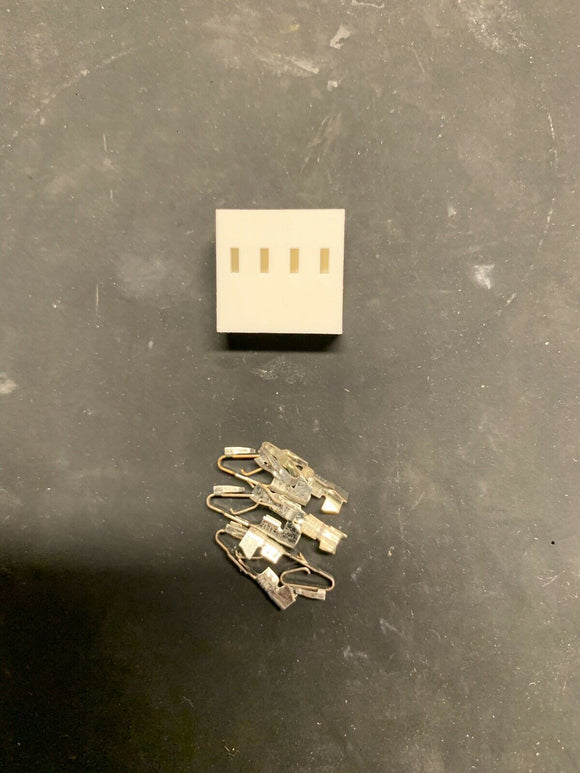 4 Pin Molex KK Connector with Crimp Pins - Size .156 3.96 - Arcade and Pinball