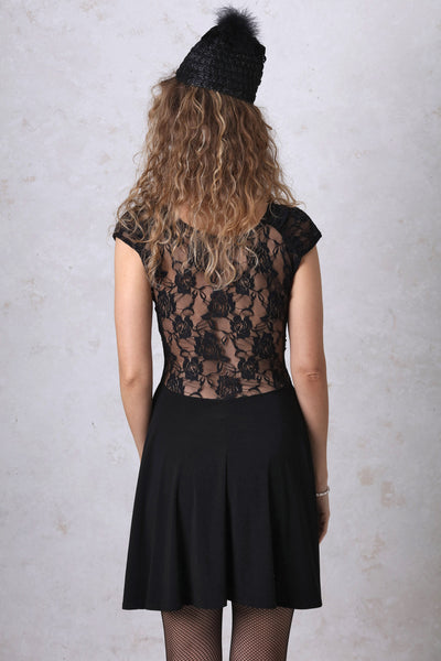 Black Lace Back Dress