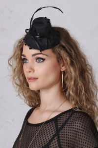 Black Mini-Topper Fascinator