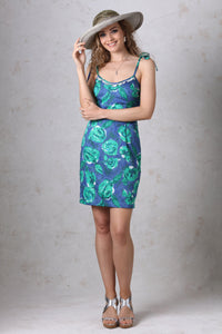Blue/Green Spaghetti Strap Dress
