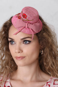 Pink Mini-Topper Fascinator