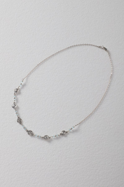 6 Tiny Spiral Sterling Silver Necklace