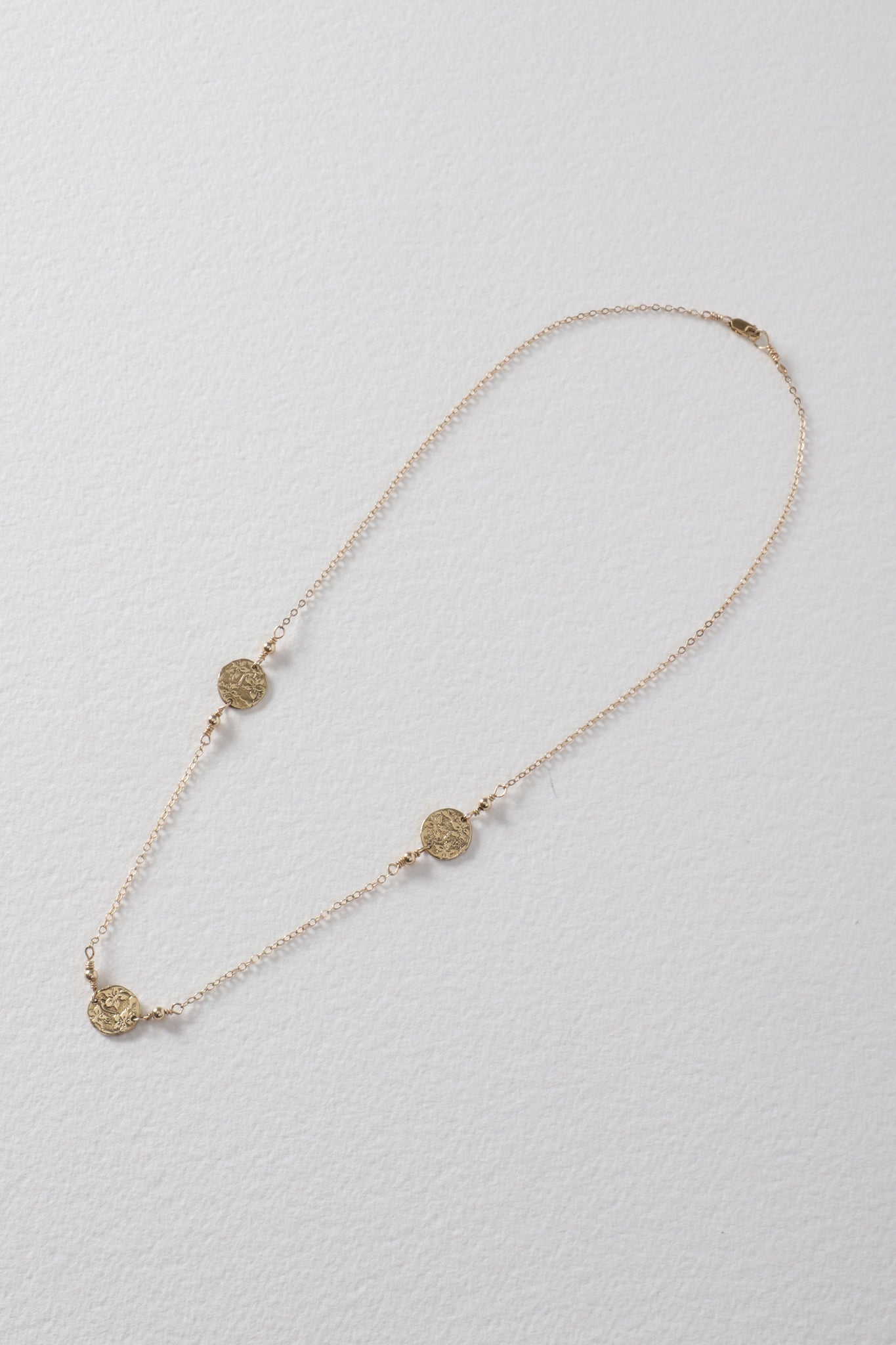3 Coins Brass Necklace