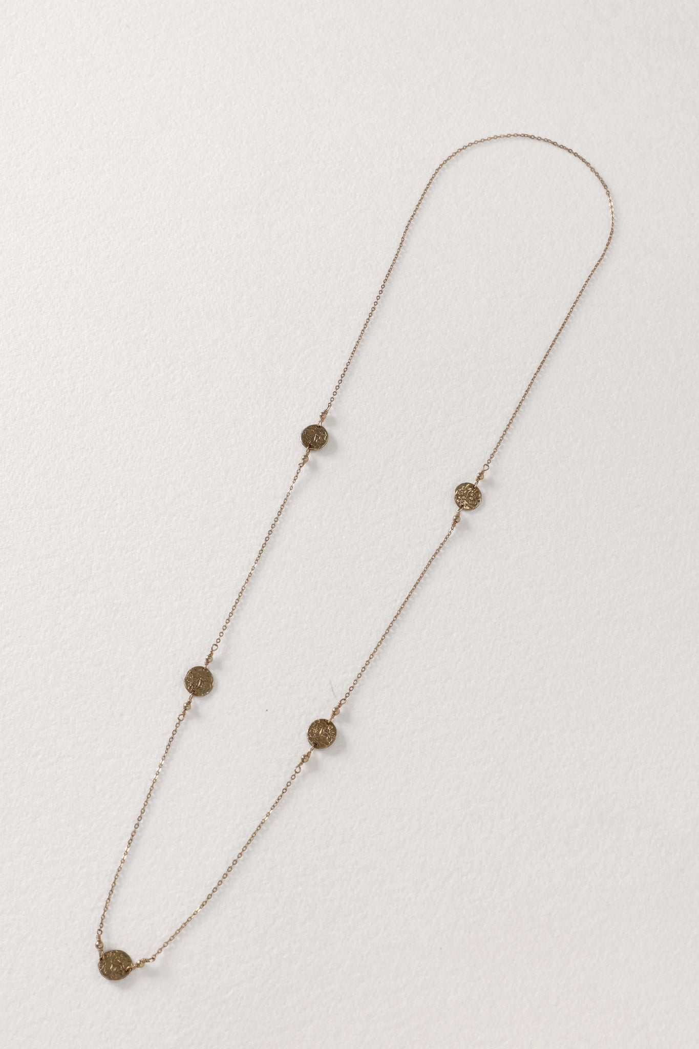 5 Coin Brass Necklace