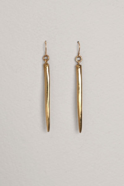 Tooth Hook Brass Earring
