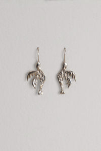 Love Bird Sterling Silver Hook Earrings