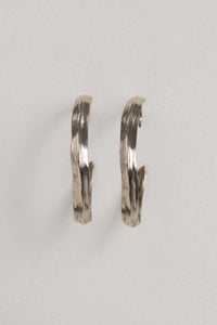 Large Creole Sterling Silver Earring