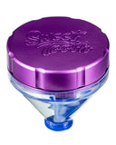 "Purple ""Fill 'er Up"" Funnel Style Aluminum Grinder"