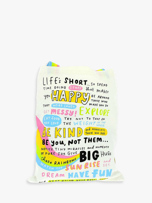 Canvas Tote Bag - The Happy News