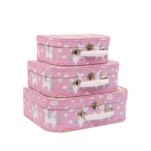 Set Of 3 Unicorn Suitcases