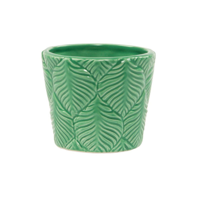 Embossed Leaf Mini Planter