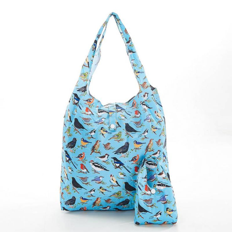 Blue Wild Birds Foldable Shopper - Eco Chic