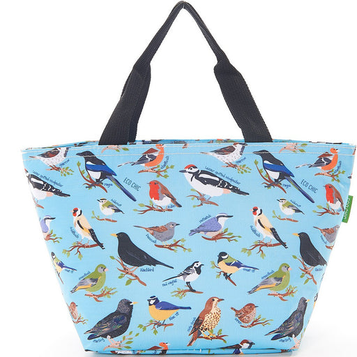 Blue Wild Birds Lunch Bag - Eco Chic