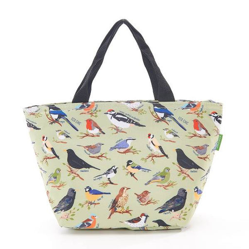 Green Wild Birds Lunch Bag - Eco Chic