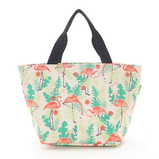 Beige Flamingo Lunch Bag