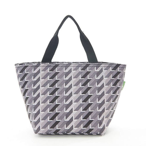 Grey Geometric Lunch Bag - Eco Chic