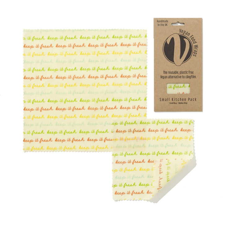 Small Kitchen Pack Vegan Wax Wraps