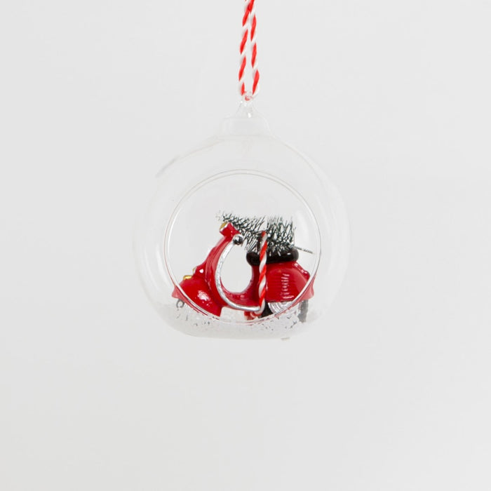 Christmas Scooter Open Bauble