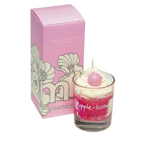 Ripple-licious Piped Candle