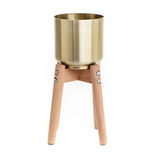 Small Gold Tripod Planter