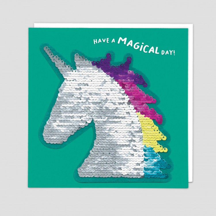 Unicorn Reversible Sequins Card