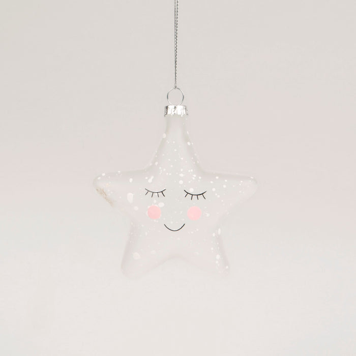 Sweet Dreams Speckled Star Bauble