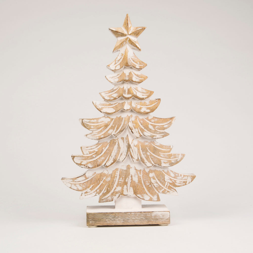 Winter Wonderland Wooden Tree Standing Decoration