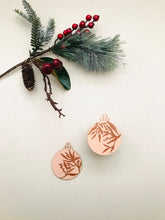 Load image into Gallery viewer, wooden ornaments | golden blush