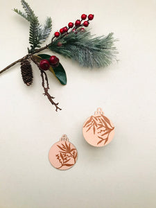 wooden ornaments | golden blush