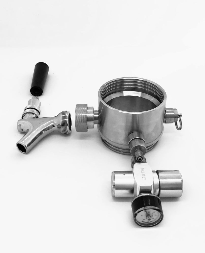 Grolwer Tap System with dual stage CO2 regulator.