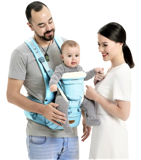 Hip seat baby carrier for dad