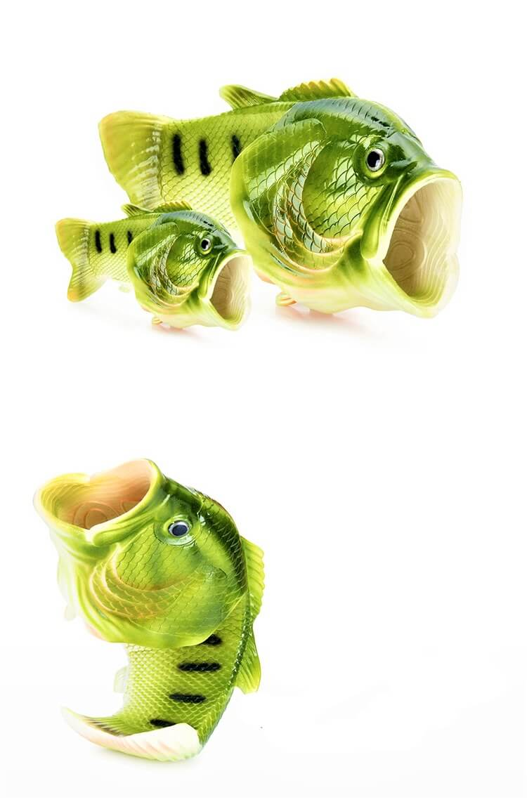 Family fish slippers