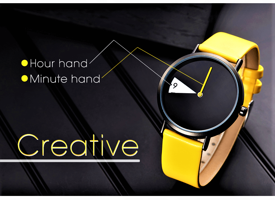 Yellow creative atch for women