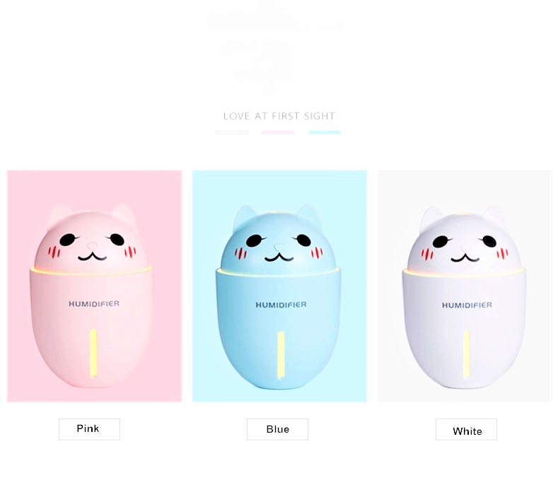 various colours of a humidifier