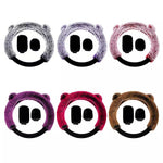 Car Plush Steering Wheel Cover