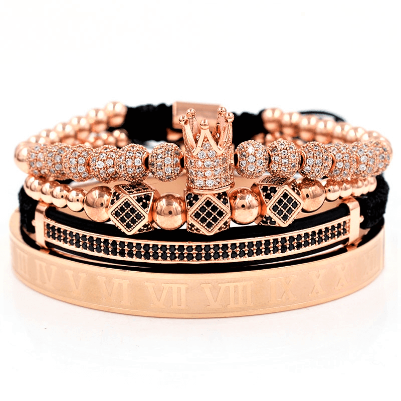 Royal King Crown Zirconia Bracelet