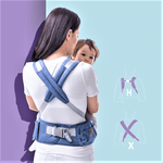 Back strap of hip seat baby carrier