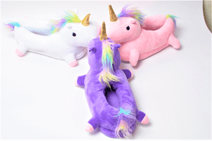 colourful Unicorn slippers
