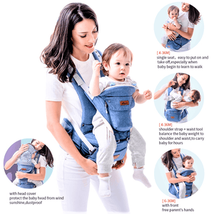 Forward facing baby carrier