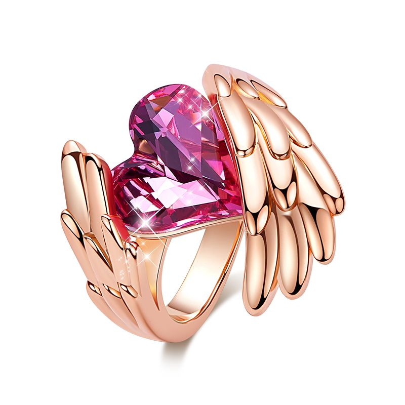 Angel Wings Crystal Ring