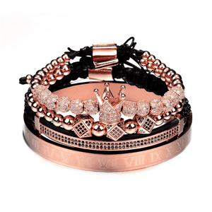Rose gold bracelet set for men